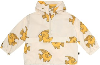Mini Rodini Fish hooded rain jacket