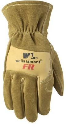 Wells Lamont Cowhide Leather Flame Resistant Work Gloves, Tan