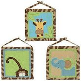 Pem America Zoo Zoo Animals Three Piece Wall Hanging Set