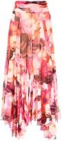 MSGM Floral Printed Handkerchief Skirt