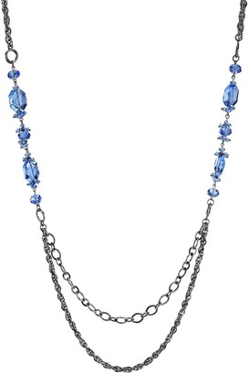 1928 Blue Bead Draped Necklace