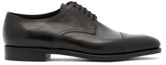 John Lobb Loe Leather Derby Shoes - Mens - Black