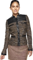 The Limited Quilt-Trimmed Tweed Jacket