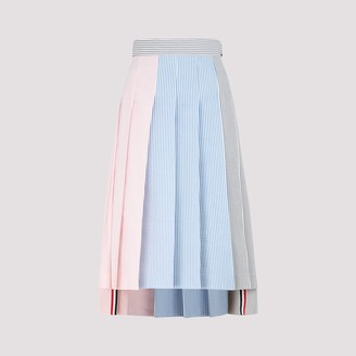 Thom Browne Colour Block Pleated Skirt