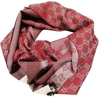 Gucci Burgundy Wool Scarves & pocket squares