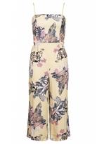 Quiz Yellow Floral Print Culotte Jumpsuit