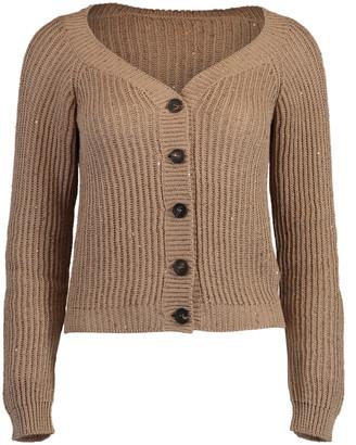 Brunello Cucinelli Almond Knit Cardigan
