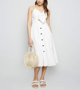 New Look Cameo Rose Button Midi Dress