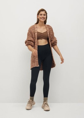 MANGO Belt cardigan