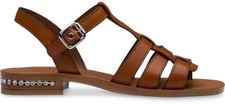 Miu Miu Crystal-Embellished 35mm Gladiator Sandals