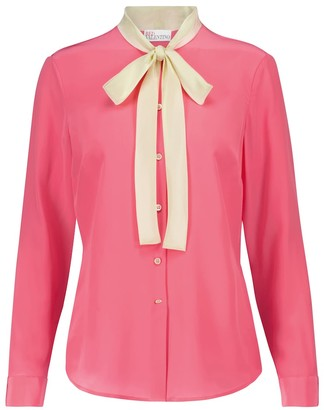 RED Valentino silk crepe de chine blouse