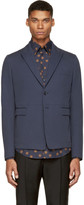 Dolce & Gabbana Blue Cotton Blazer