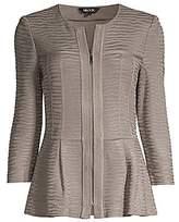 Misook Women's Textured Peplum Jacket