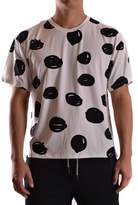 Jeremy Scott Men's White/black Silk T-shirt.