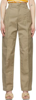 Acne Studios Beige Twill Workwear Trousers