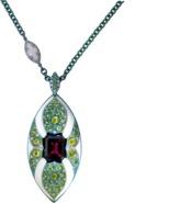 Arunashi Rhodolite And Demantoid Pendant Necklace