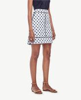 Ann Taylor Petite Floral Fan Jacquard Skirt