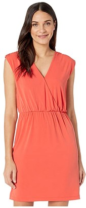 1 STATE 1.STATE Sleeveless V-Neck Cinched Waist Dress (Papaya) Women's Dress