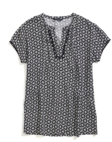 Tommy Hilfiger Final Sale- Floral Printed Top With Trim