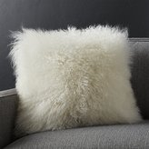 "Crate & Barrel Pelliccia Ivory 16"" Pillow"