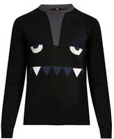 Fendi Bag Bugs-intarsia Wool Sweater