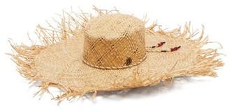 Maison Michel Ursula Wide-brim Raffia Hat - Womens - Beige