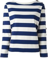 MiH Jeans button sleeve breton jumper