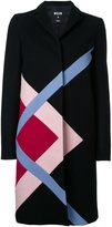 MSGM graphic single breasted coat
