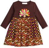 Bonnie Baby Printed Turkey Dress, Baby Girls (0-24 months)