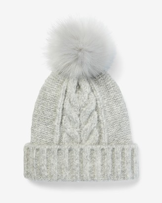 Express Cable Knit Pom Beanie