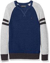 Tommy Hilfiger Boy's Structured Colorblock CN Sweater L/S Jumper