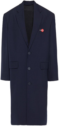 Balenciaga Embroidered Wool-blend Twill Coat