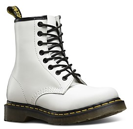 Dr. Martens Women's 1460 Smooth White Lace Up Boots