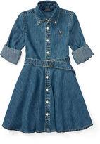 Ralph Lauren 2-6X Denim Fit-And-Flare Shirtdress