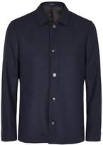 Tiger Of Sweden Dark Blue Flannel Jacket