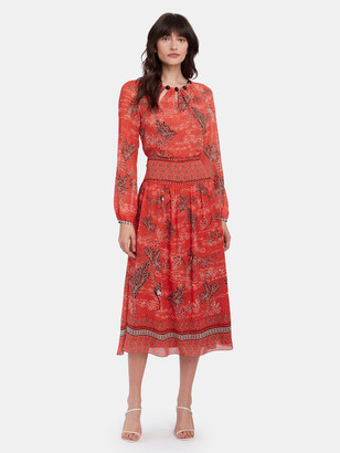 Saloni Thala Beaded Neckline Midi Dress