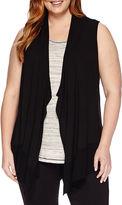 Liz Claiborne Cascade Vest Cardigan - Plus