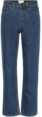The Row Christie mid-rise straight jeans