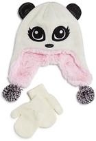 Capelli Infant Girls' Panda Knit Hat & Mitten Set - Sizes 12-24 Months