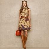 Ralph Lauren Blue Label Bridle-Print Charmeuse Dress