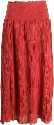 Zimmermann ruched long-length skirt
