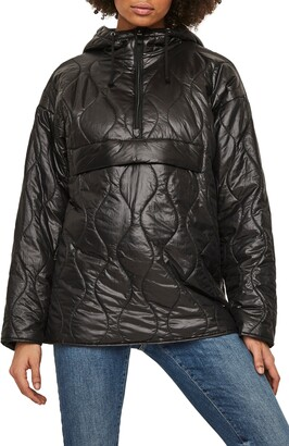 AWARE BY VERO MODA Maroon Quilted Jacket