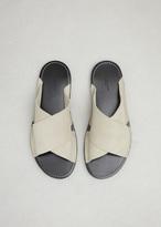Dries Van Noten ecru crossover sandal