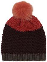 Etro Bordeaux Wool Hat