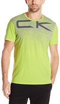 Calvin Klein Men's Short Sleeve Crew Neck Perforated Chest Graphic T-Shirt