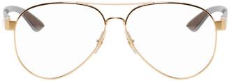 Ray-Ban Gold Tech Aviator Glasses