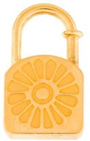 Hermes Lotus Cadena Lock Charm