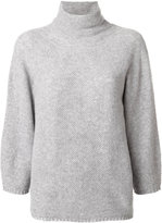 Max Mara turtleneck loose-fit knitted blouse - women - Cashmere/Virgin Wool - M