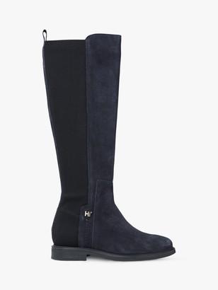 Tommy Hilfiger Suede Knee High Boots, Desert Sky