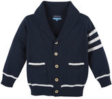 Andy & Evan Cotton Varsity Sweater, Navy/White, Size 2T-7Y